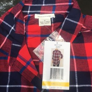 Beach Lunch Lounge Flannel NWT